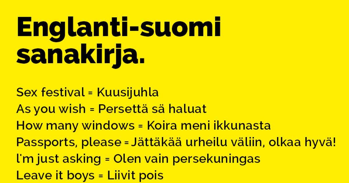 sanakirja englanti suomi Ahtari
