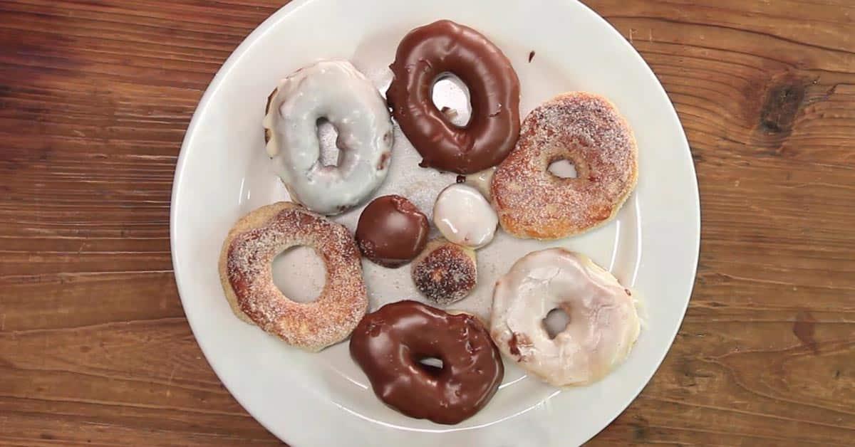 2 raaka-aineen donitsit