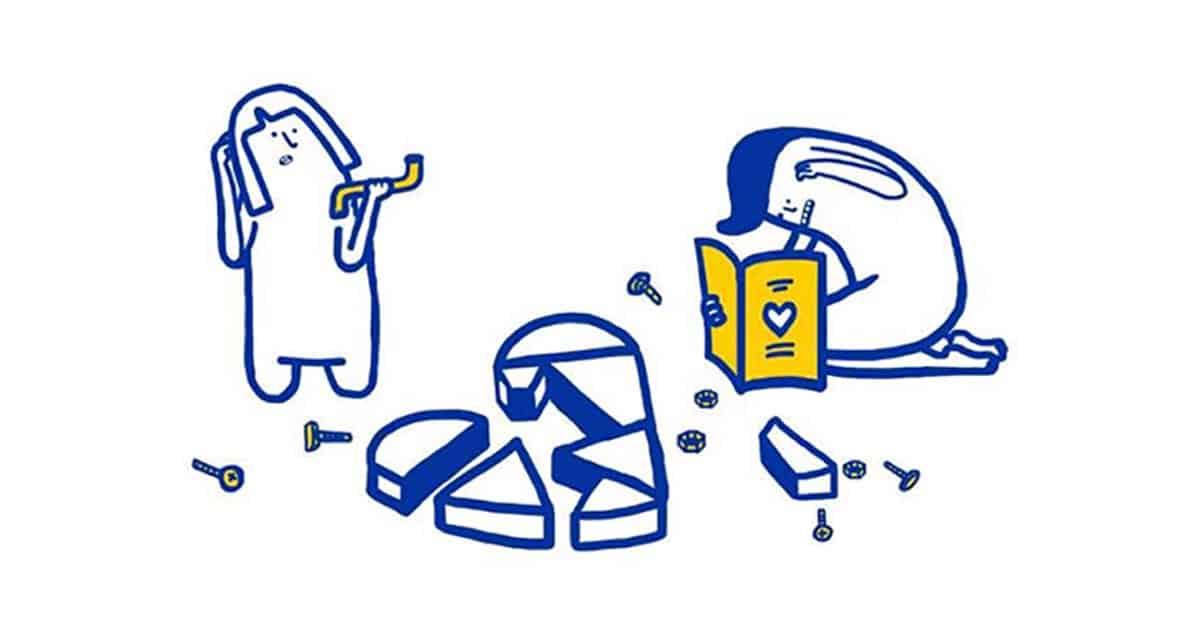 Näin Ikea auttaa selvittämään parisuhdeongelmia, tuttuun Ikea-tyyliin.