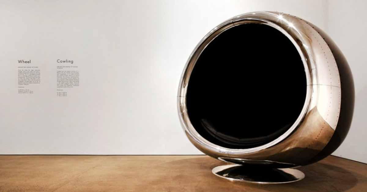 Uskomattoman upea istuin – rakennettu aidosta Boeing 737:n suihkumoottorista.