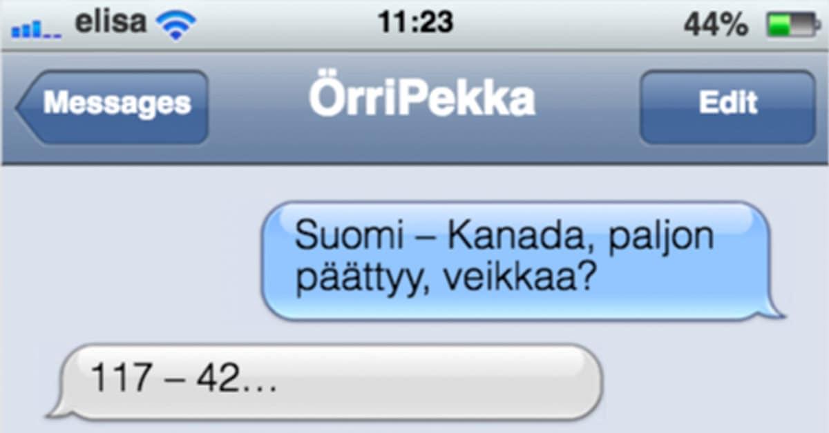 Tekstarimokat: Suomi-Kanada