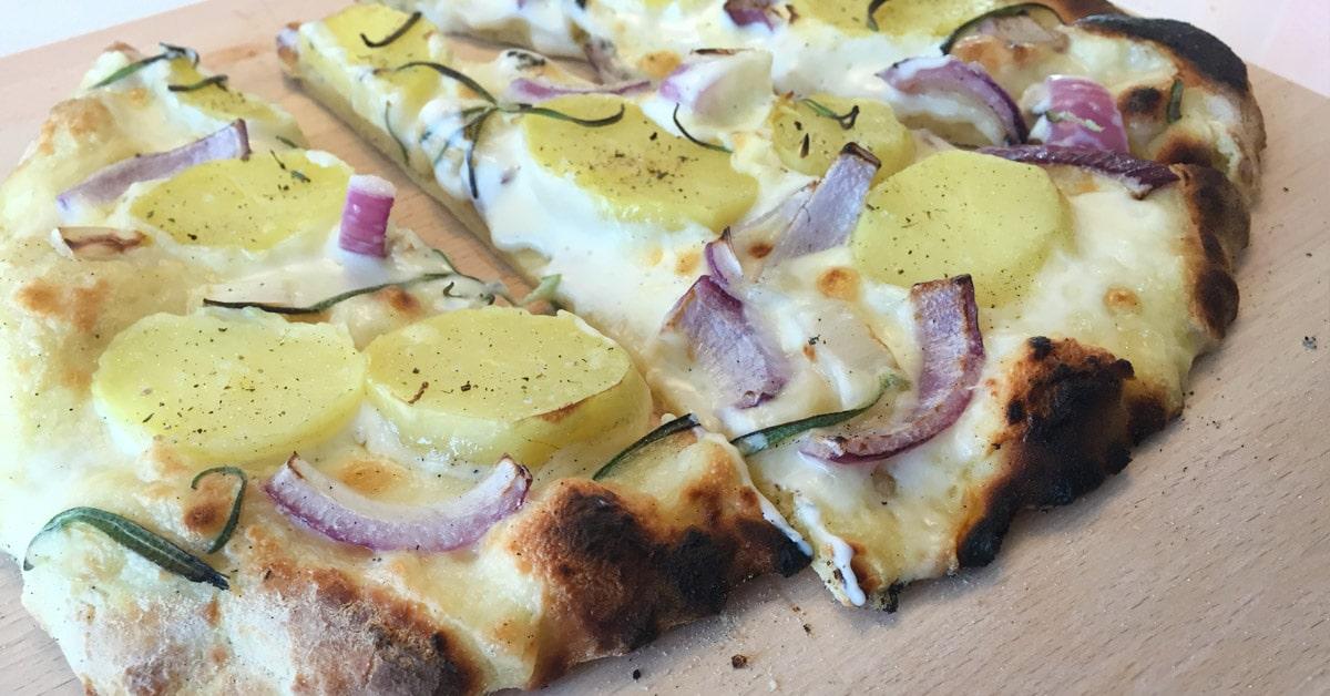 Valkoinen Perunapizza