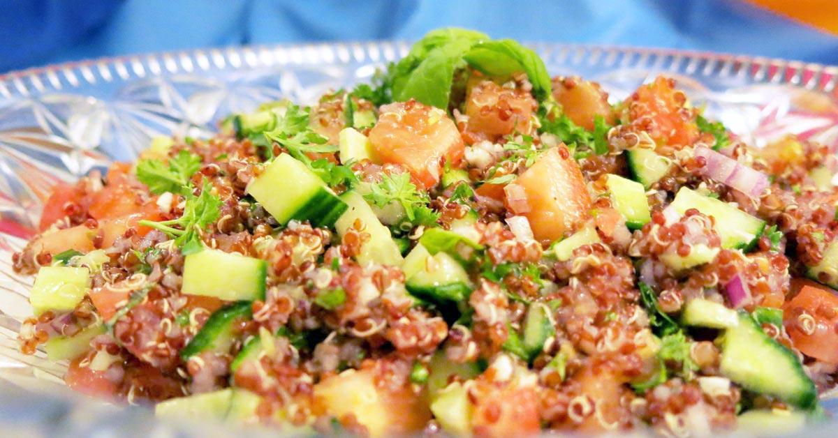 Gluteeniton libanonilainen tabbouleh-salaatti