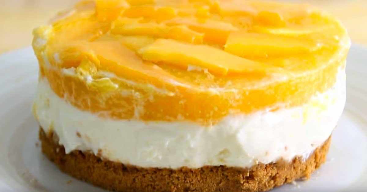 Mainio herkkuvinkki: Mango-juustokakku, joka ei vaadi paistamista