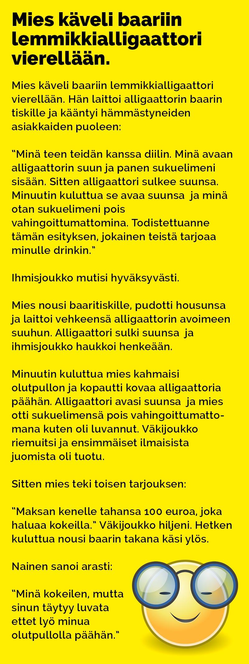 mies_kaveli_baariin_lemmikki_alligaattori_vierellaan_3