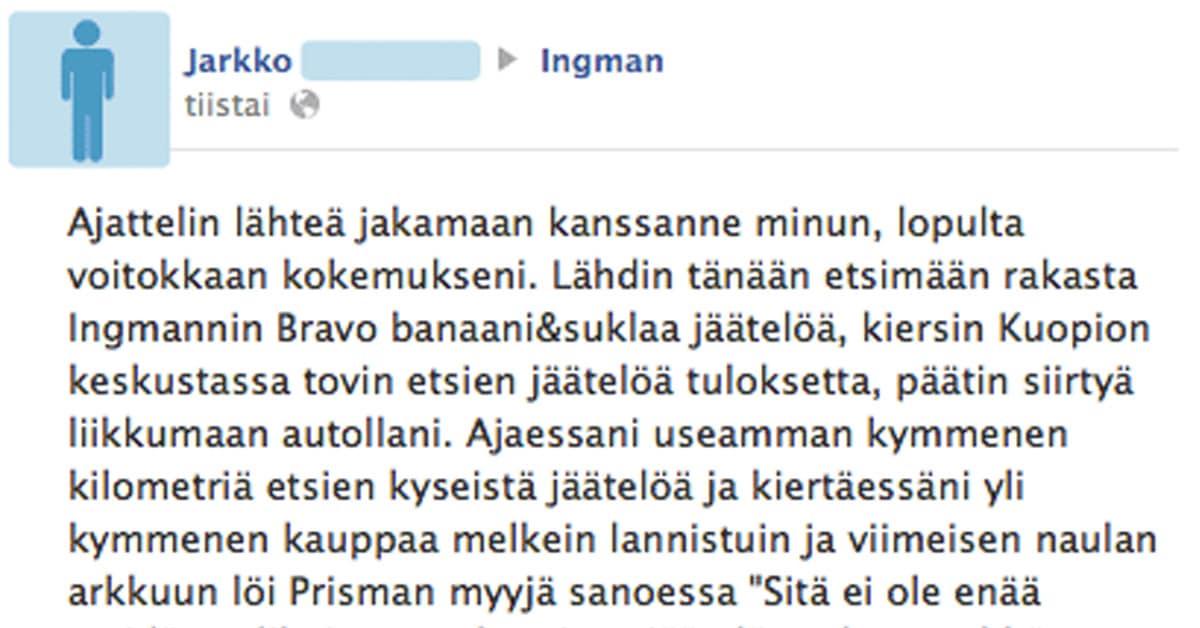 Feissarimokat: Banaani-suklaa-jäätelö-kriisi