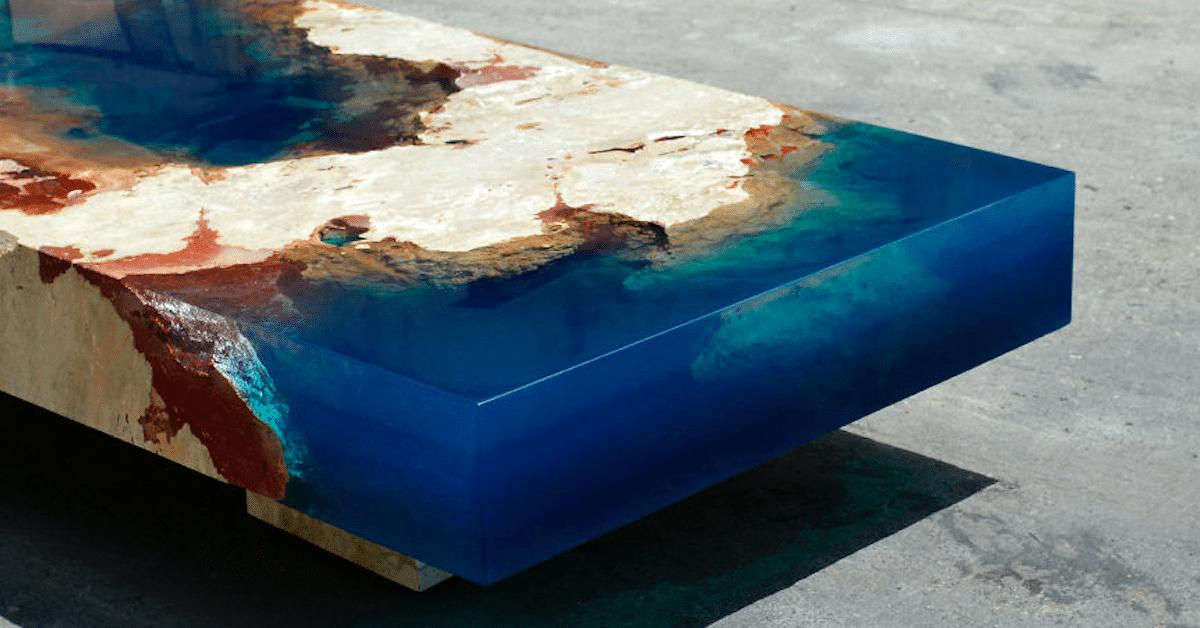 Tämän miehen luomat upeat sohvapöydät näyttävät aivan laguunilta olohuoneessasi
