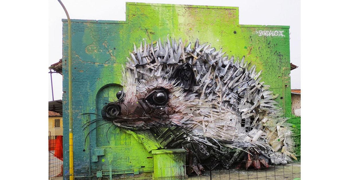 Taiteilija luo huikeaa katutaidetta roskasta muistuttaakseen meitä saasteongelmasta