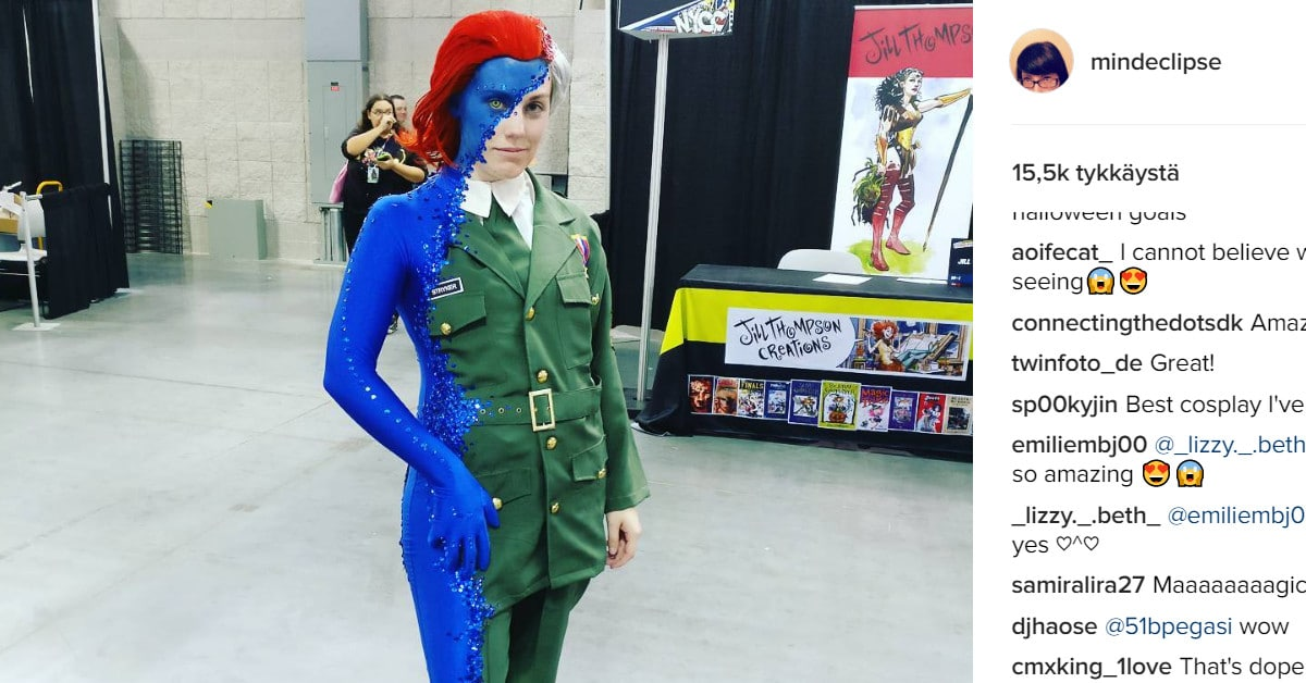 Tämä X-men -cosplay-asu sai somekansan leuat loksahtamaan