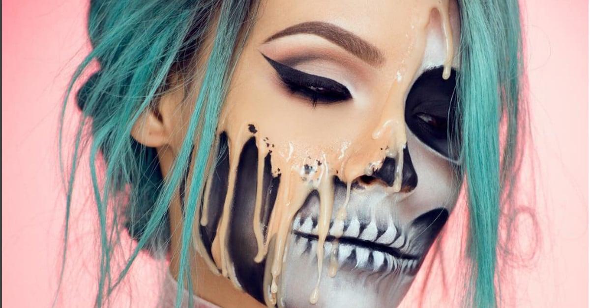 """Näin valmistuu huikea Halloween-meikki: """"Sulavat kasvot"""""""