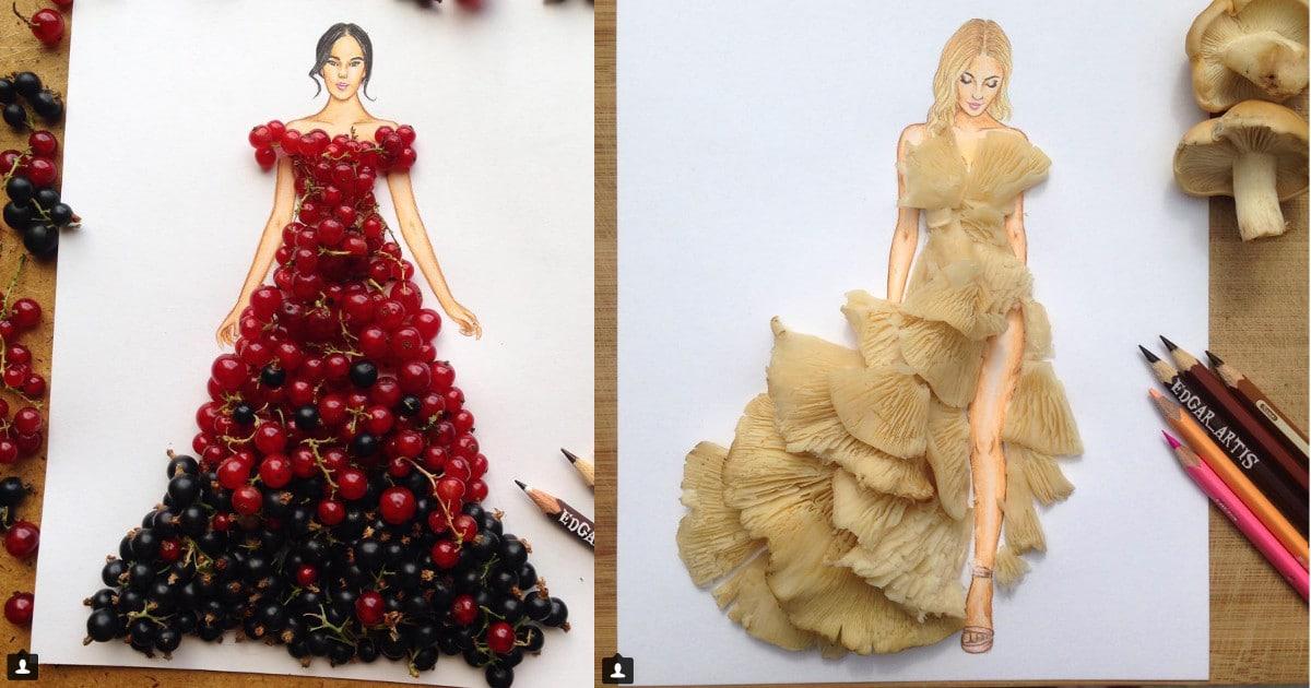 Armenialaistaiteilija luo huikeita mekko-designejä sienistä ja marjoista