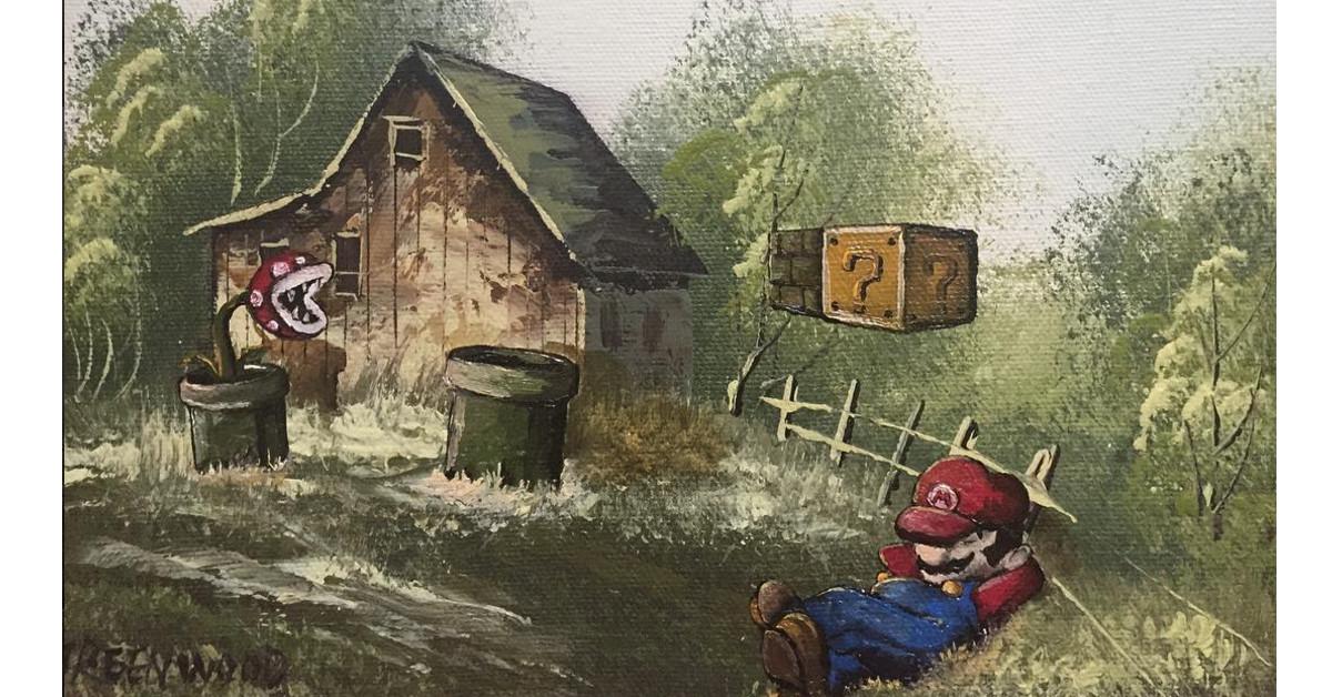 Taiteilija tuunaa työkseen kirpputorimaalauksia pop-kulttuurihahmoilla