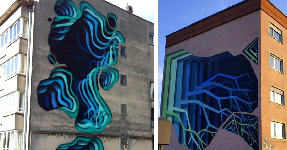 Saksalainen katutaiteilija luo huikeita 3D-portaaleja talojen seiniin