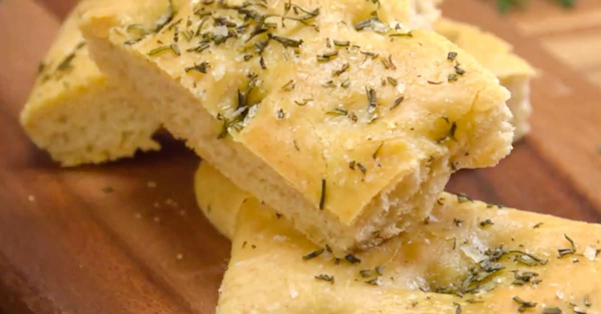 Rosmariini-focaccia – italialainen leipä