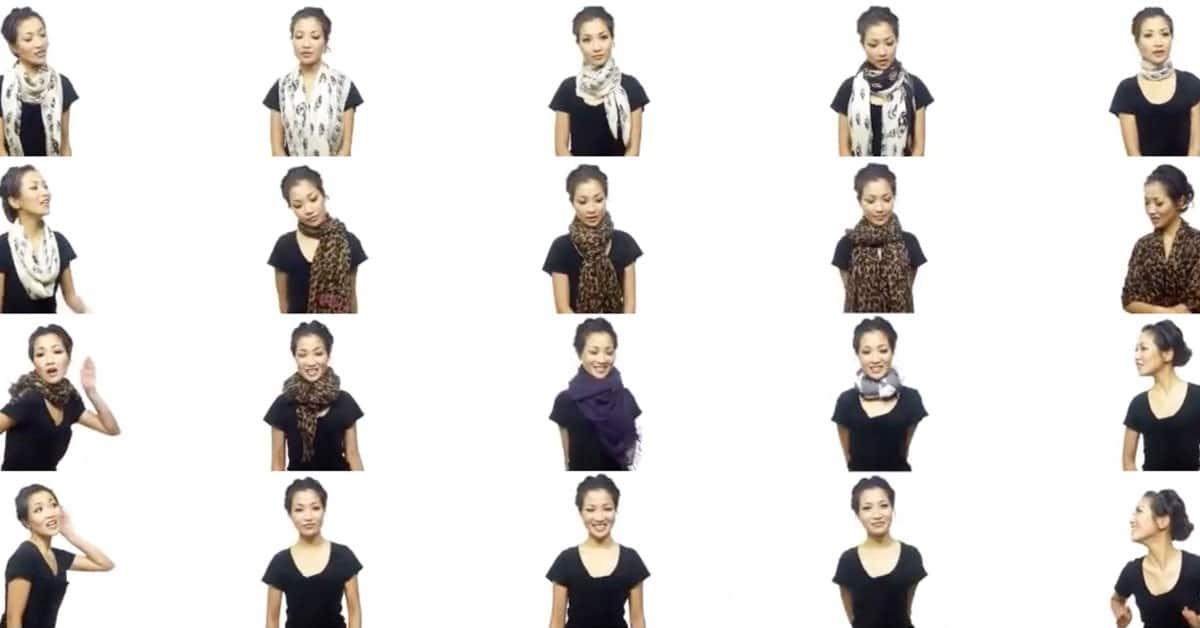 25 erilaista tapaa käyttää huivia
