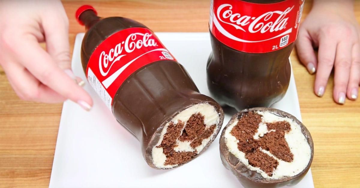 Näin valmistuu Coca-Cola -pullon näköinen hittikakku