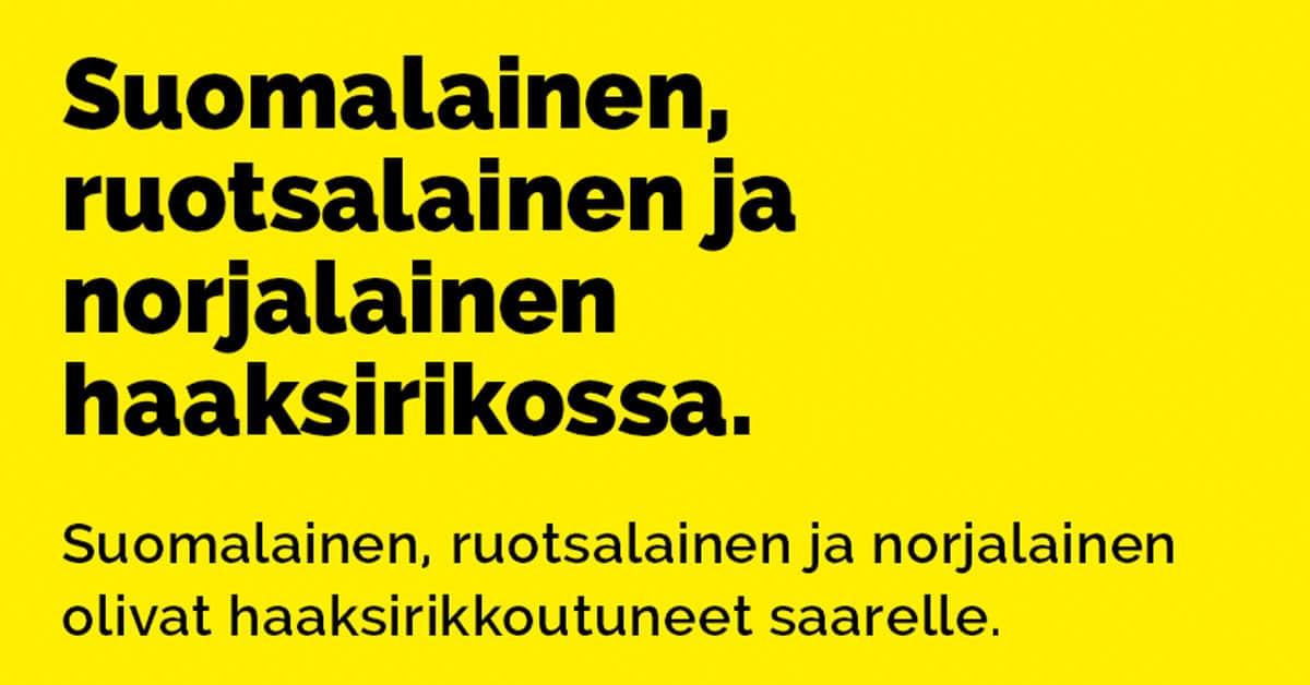 Suomalainen Ruotsalainen Ja Norjalainen