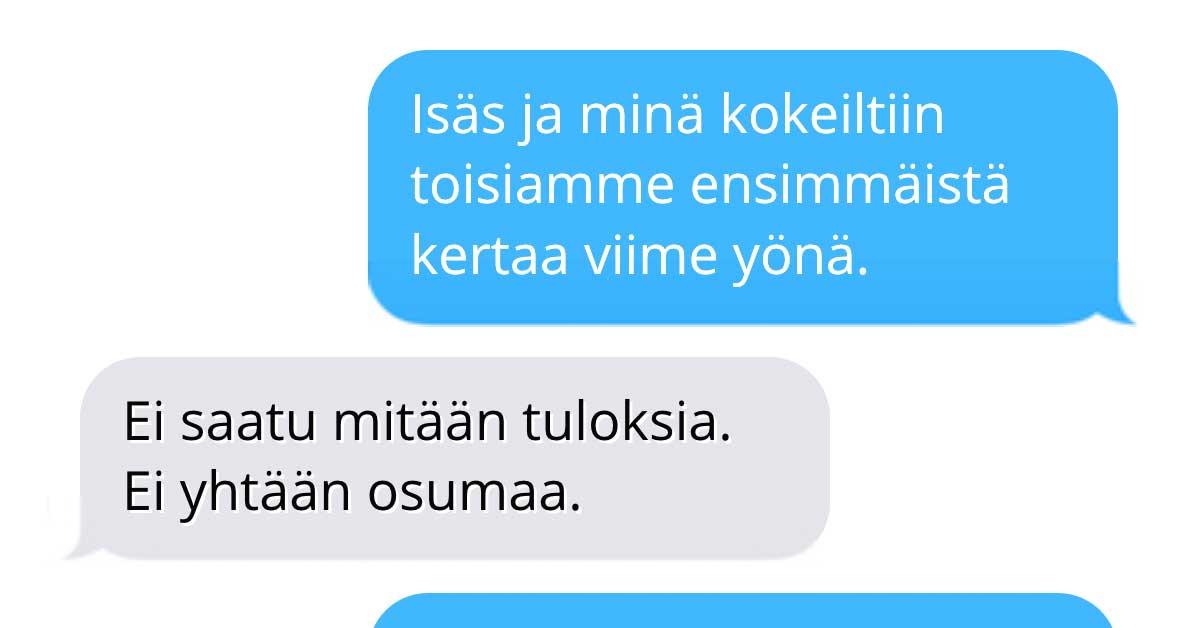 Tekstarimokat: Äiti kertoo aivan liikaa