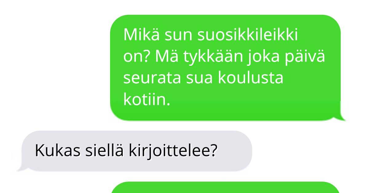Tekstarimokat: Stalkkeri ottaa yhteyttä