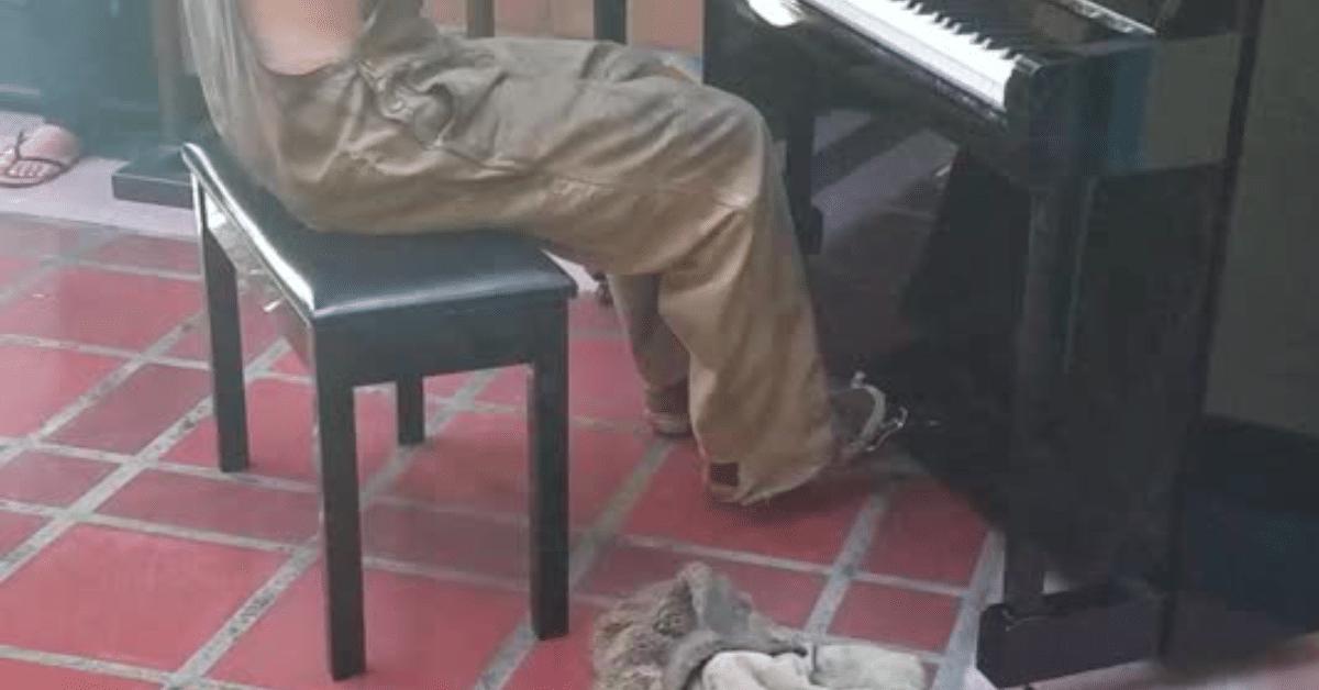 Koditon mies soittaa pianoa – uskomattomat lahjat