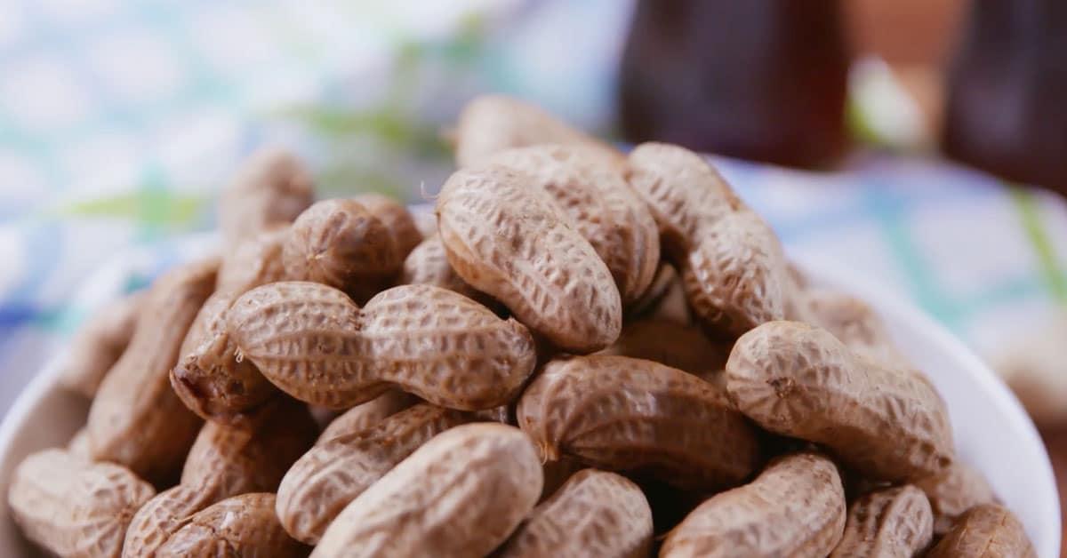 Haudutetut maapähkinät