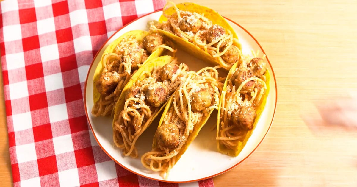 Spagetti-lihapullatacot