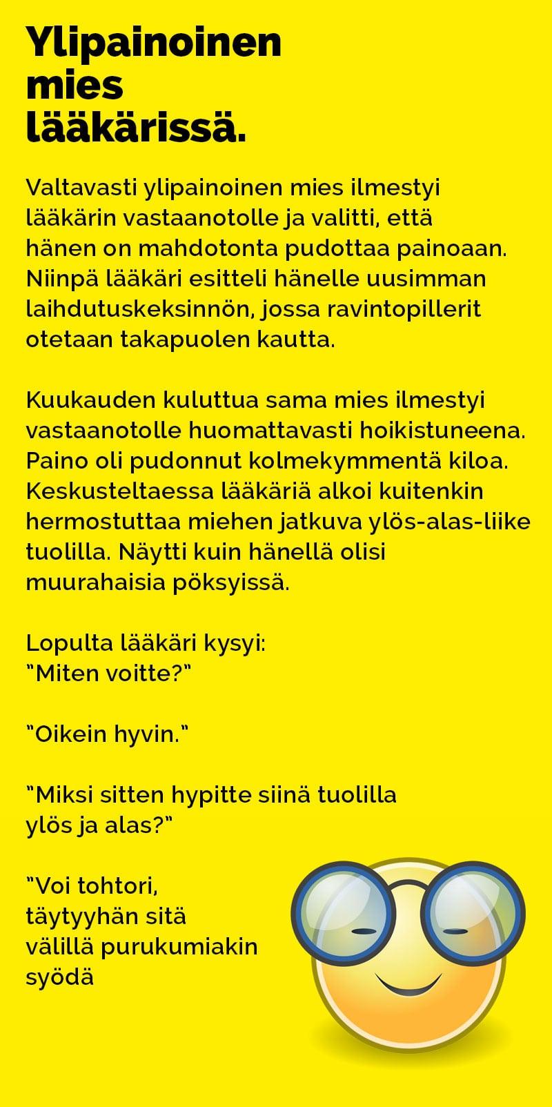 ylipainoinen mies Savonlinna
