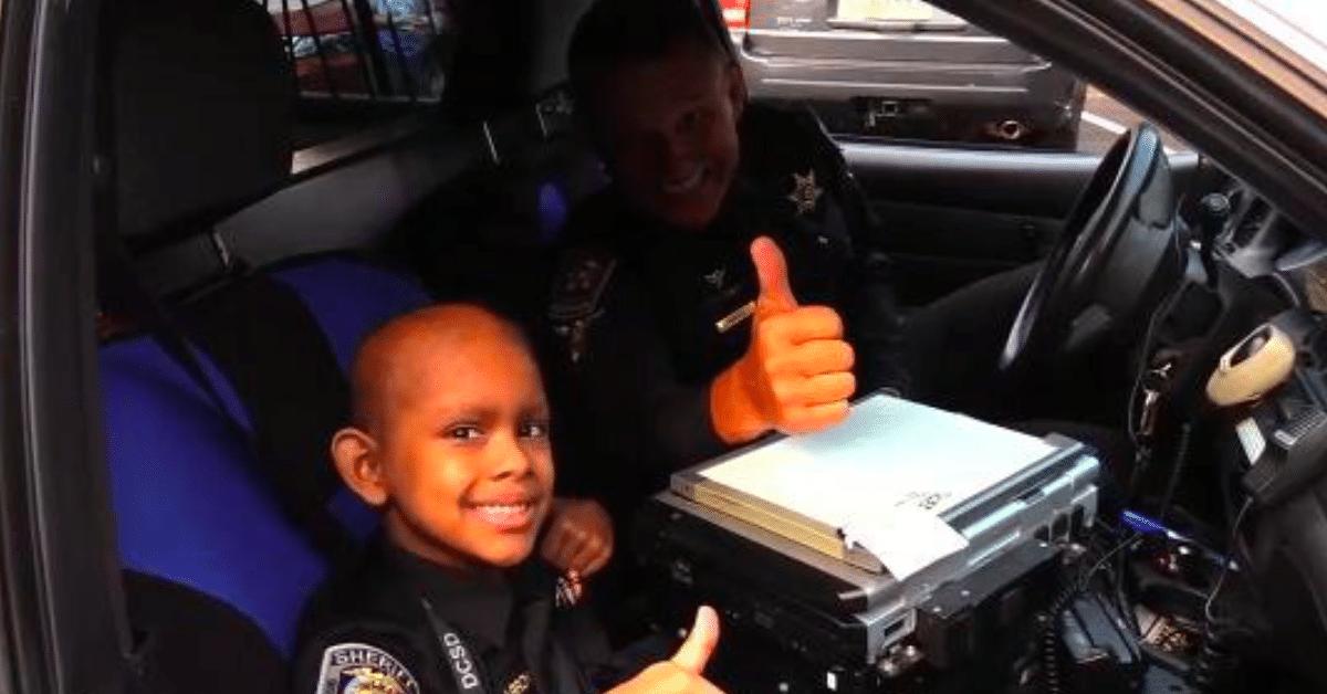 Päivä poliisina – seitsemänvuotiaan syöpäpotilaan unelma toteutui