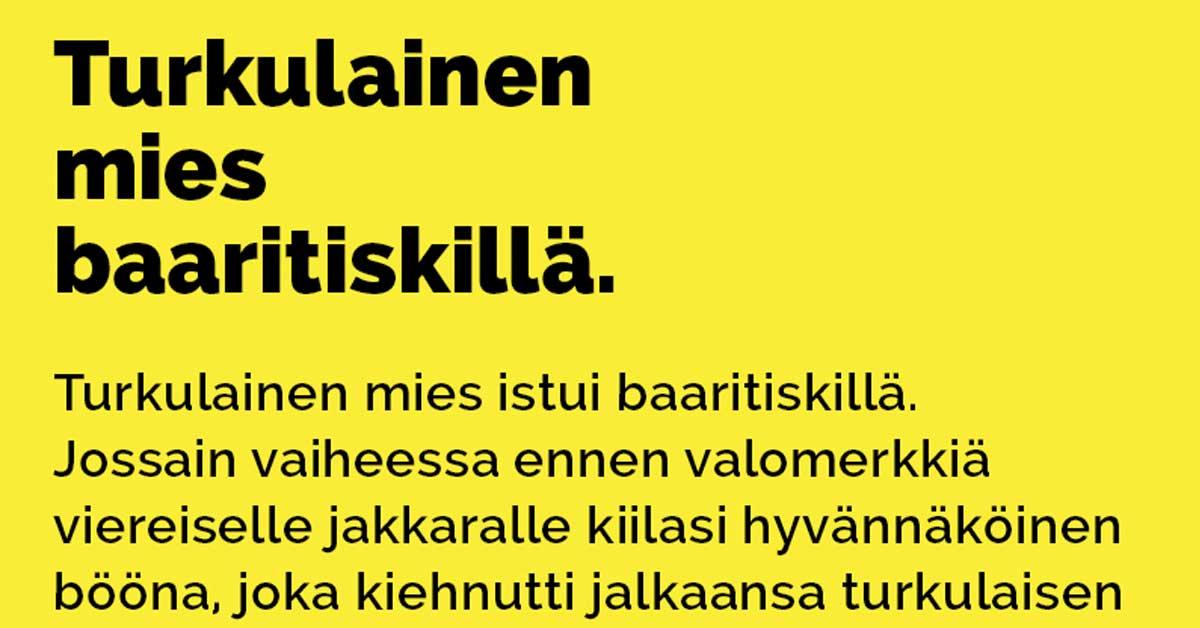 Vitsit: Turkulainen mies baaritiskillä