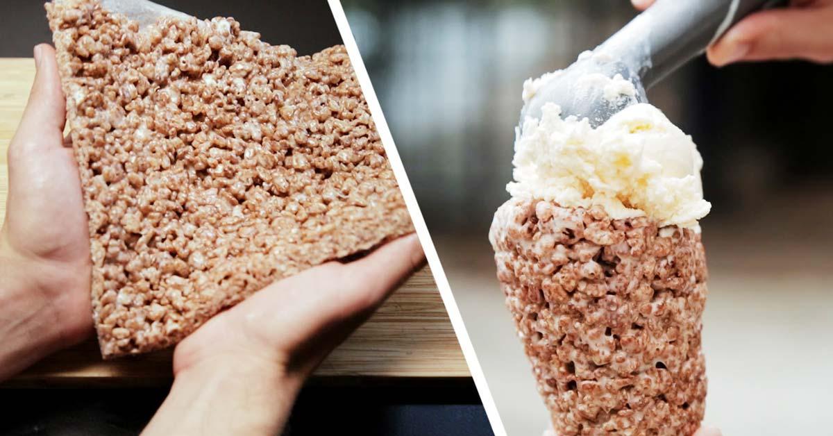 Suklainen jäätelövohveli valmistuu todella helposti – vain 3 raaka-ainetta!