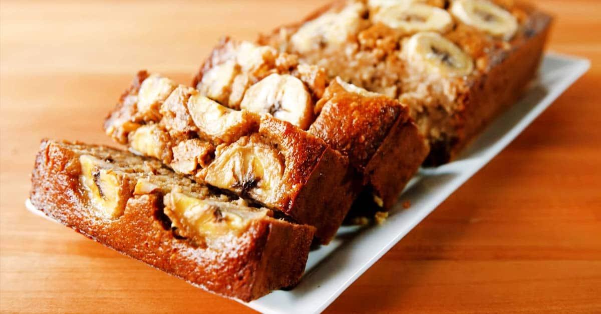 Gluteeniton banaanileipä – valmistuu helposti, maistuu varmasti