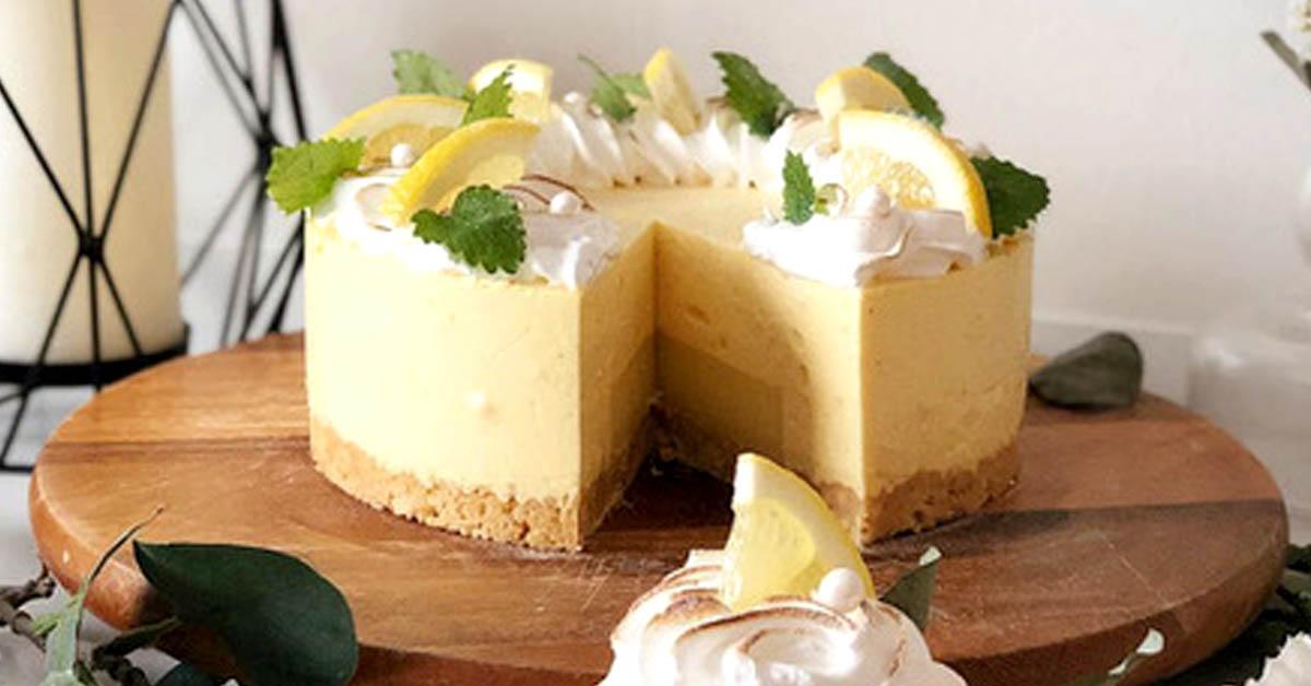 Sitruunainen juustokakku – täyte vie kielen mennessään