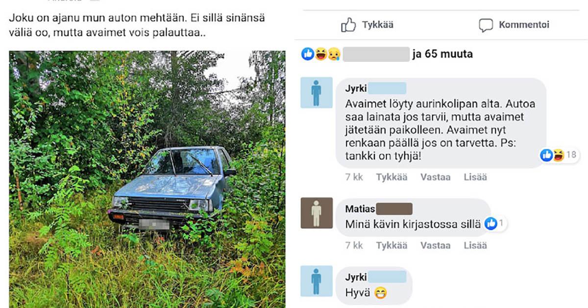 Feissarimokat: Jyrki löysi autonsa metsästä – tarina, jolla on todella yllättävä käänne