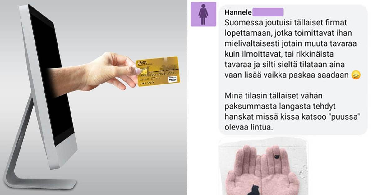 Feissarimokat: Nainen tilasi Kiinasta sormikkaat – ostoksesta seuraa suurta draamaa