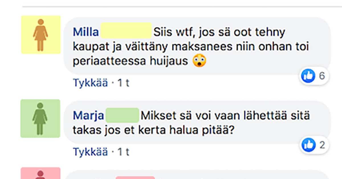 Feissarimokat: Nainen ostaa muumimukin FB kirpparilta, eikä aio maksaa sitä – selitys on uskomaton