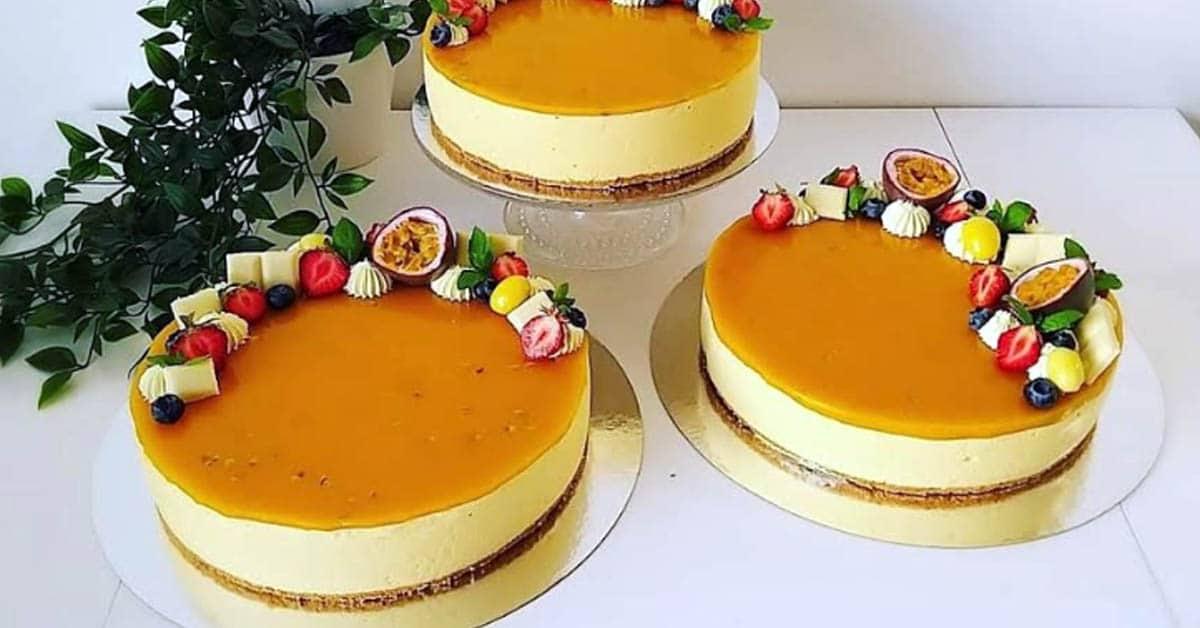 Mango-passion juustokakku – eksoottisten hedelmien täydellinen makuyhdistelmä