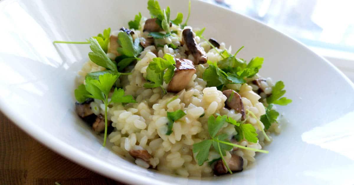 """Portobello-yrttirisotto – """"Lihaisa"""" sieni antamassa suutuntumaa ja makua + kasvisruoan keveys = 5/5"""