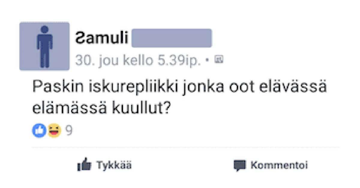 FEISSARIMOKAT: Suomalaiset paljastavat huonoimmat iskurepliikit kautta aikojen